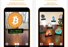 Bitcoin AR cung cấp thông tin từ Wikipedia và giá cả của tiền số.