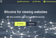Kiếm bitcoin miễn phí với adBTC.top
